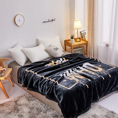 拉舍尔毛毯4斤-12斤+花型多多 (经典款) 1.5*2.0m(4斤) 黑who