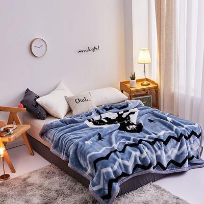 拉舍尔毛毯4斤-12斤+花型多多 (经典款) 1.5*2.0m(4斤) 黑鹿