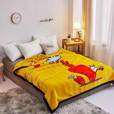拉舍尔毛毯4斤-12斤+花型多多 (经典款) 1.5*2.0m(4斤) 黄萝卜