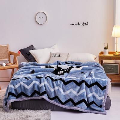 2019新款拉舍尔毛毯学生毯加厚双层4斤–8斤 150*200cm  4斤 黑鹿