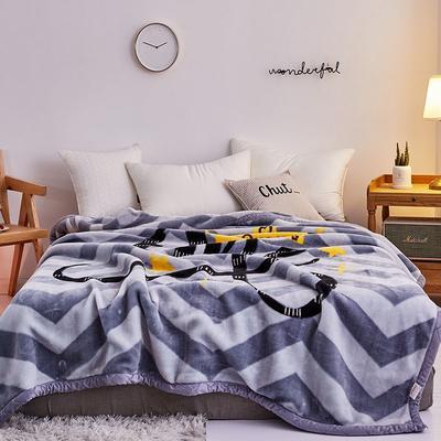2020新款拉舍尔毛毯学生毯加厚双层4斤–8斤 150*200cm  4斤 皇冠