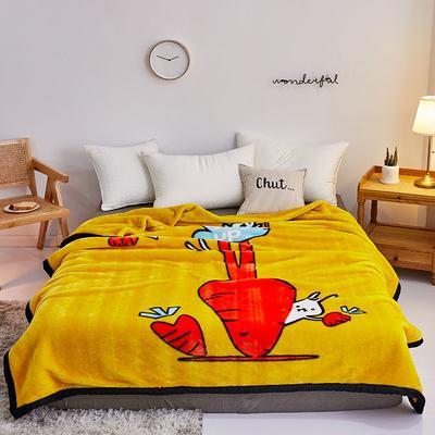 2019新款拉舍尔毛毯学生毯加厚双层4斤–8斤 150*200cm  4斤 黄萝卜