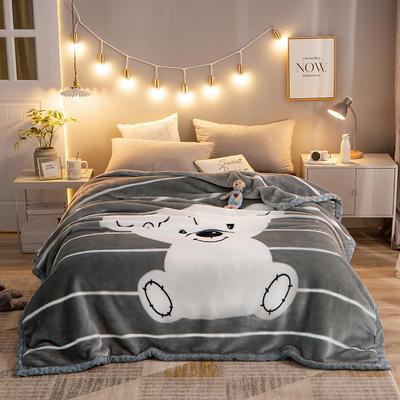 2020新款拉舍尔毛毯学生毯加厚双层4斤–8斤 150*200cm  4斤 乖小熊