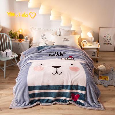 2020新款拉舍尔毛毯学生毯加厚双层4斤–8斤 150*200cm  4斤 胖胖熊