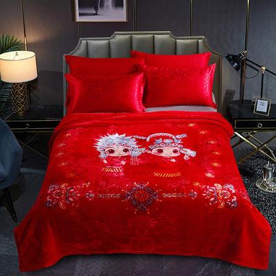 婚庆系列云毯 200x230cm  5.2斤 白头偕老-大红