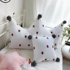 13372全棉水洗印花面料 多功能飘窗靠背抱枕 45x45cm/方枕 可儿