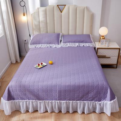 2020新款春夏仙女系乳胶养生席三件套 230*250cm(厚款) 熏衣紫