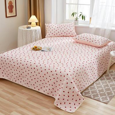 2020新款四季款天雪棉多功能床盖三件套 200cmx230cm 甜心草莓