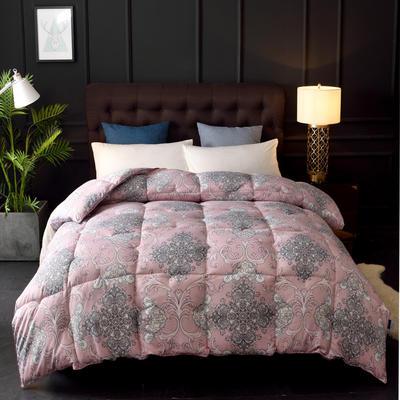 2018新款-磨毛充绒系列冬被 150x200cm4斤 红粉世家