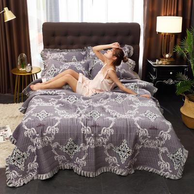 2019新款水晶绒多功能盖毯、夹棉大炕盖 枕套/对 素雅风情