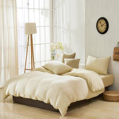 航航家居 针织棉四件套 1.5米床单款 浅黄
