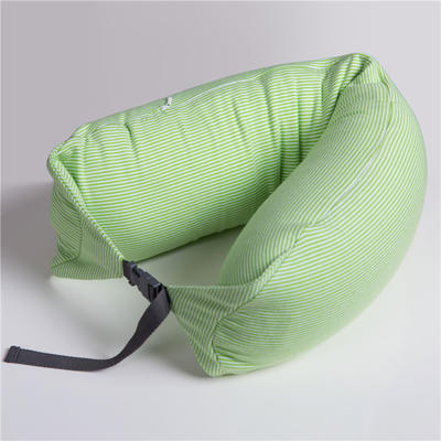 航航家居 U型枕 绿条纹