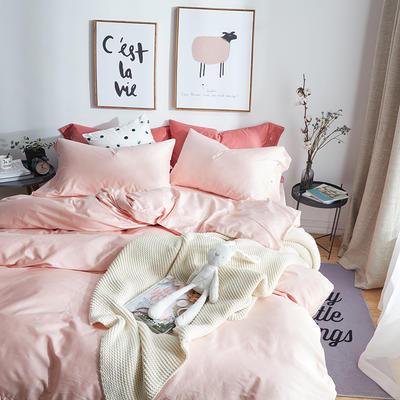 航航家居 60支长绒棉贡缎纯色四件套 1.8米床/床单款 6萝莉粉