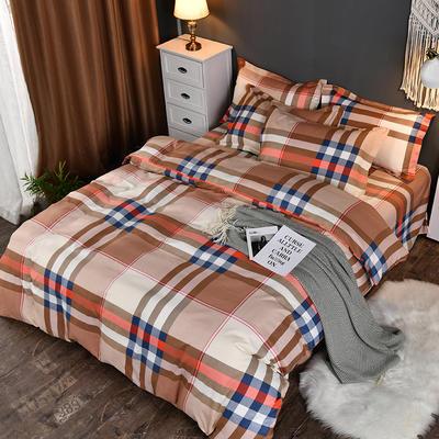 2019新款140克加厚活性斜纹磨毛植物羊绒四件套 1.5m(5英尺)床 卡布奇诺