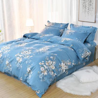 2019新款140克加厚活性斜纹磨毛植物羊绒四件套 1.5m(5英尺)床 陌香