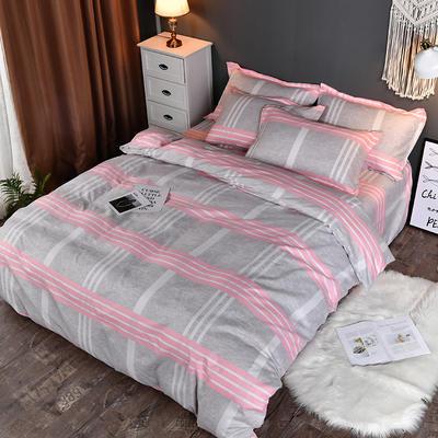 2019新款140克加厚活性斜纹磨毛植物羊绒四件套 1.5m(5英尺)床 优乐格