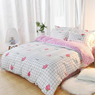 2019新款床单式时尚印花芦荟棉磨毛四件套 1.2m(4英尺)床 水果乐园