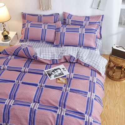 2019新款床单式时尚印花芦荟棉磨毛四件套 1.2m(4英尺)床 佳丽格调 紫
