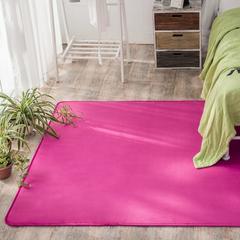 2018新款水晶绒地垫 40×60cm(可做赠品) 玫红色