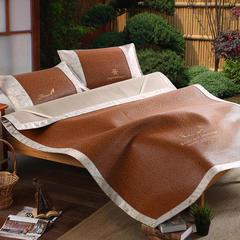 20-18新款高档刺绣精品藤席 1.5m(5英尺)床 仲夏之约,褐