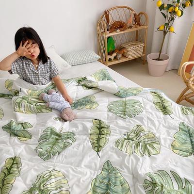2020新款加厚水洗棉夏被 150x200cm 绿色心情