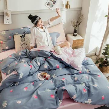2018新款全棉磨毛四件套 1.5m(5英尺)床 盛特顿