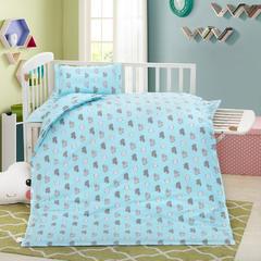 2018新款13372AA版婴童幼儿三件套 三件套含棉花子母芯(加长款) 小绵羊蓝