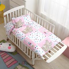 2018新款13372AA版婴童幼儿垫套 60*120cm 快乐随想粉