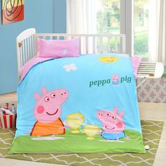 2018新款活性大版婴童幼儿单品被套及被芯 纯白羽丝被芯 小猪佩奇