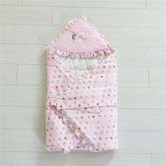 2019新款全棉婴幼儿抱被90*90cm 90*90cm 粉色