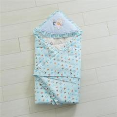 2019新款全棉婴幼儿抱被90*90cm 90*90cm 蓝色