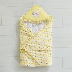 2019新款全棉婴幼儿抱被90*90cm 90*90cm 黄色