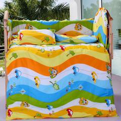 2019新款40s12868婴童幼儿园三件套 婴幼儿三件套(不含芯)床垫60*135 宝贝车手