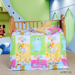 2019新款40s12868婴童幼儿园三件套 婴幼儿三件套(不含芯)床垫60*135 动物乐园