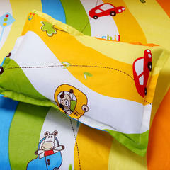 2019新款12868系列婴童幼儿园枕头28*43cm 宝贝车手枕套