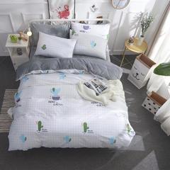 2018新款全棉棉加绒四件套 1.5m(5英尺)床 朵美儿