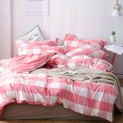 2018新款-丽丝绒保暖四件套 1.2m-1.35m床(床单款三件套) 爱尚格-粉
