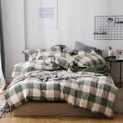 2018新款-丽丝绒保暖四件套 1.5m-1.8m床(床单款四件套) 爱尚格-绿