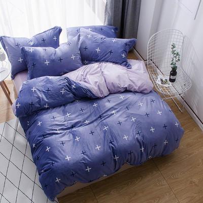 2018新款-丽丝绒保暖四件套 1.2m-1.35m床(床单款三件套) 偏爱