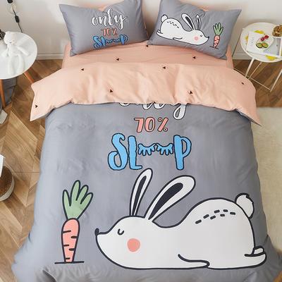 2019新款-全棉数码印花四件套 三件套1.2m(4英尺)床 起床困难户