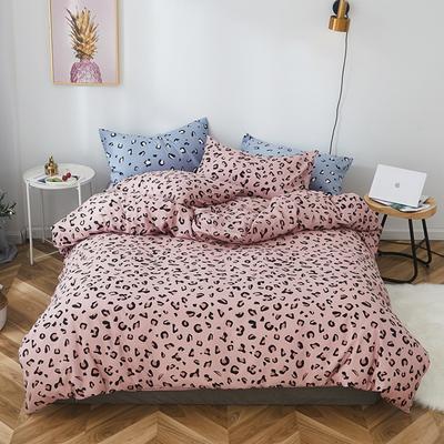 2019新款-全棉小清新系列四件套 三件套1.2m(4英尺)床 粉豹