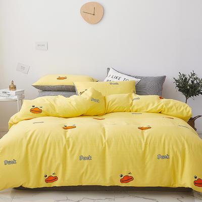 2019新款-小清新系列四件套 四件套1.5m(5英尺)床 小黄鸭