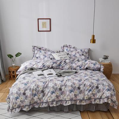 2020新款-全棉花边轻奢风系列四件套 床单款三件套1.2m(4英尺)床 熏若