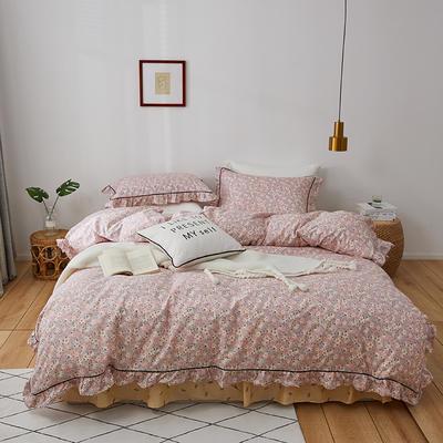 2020新款-全棉花边轻奢风系列四件套 床单款三件套1.2m(4英尺)床 约定