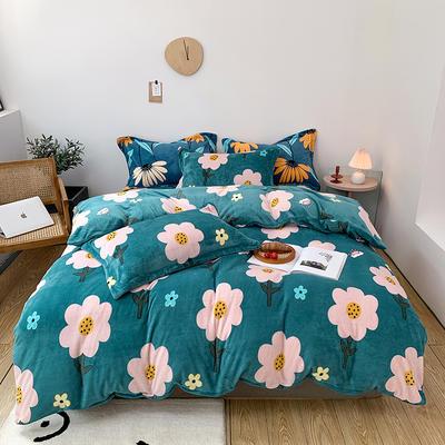 2020新款-牛奶绒四件套 1.8m床单款四件套 向阳花