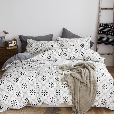 2018新款北欧ins风保暖133*72全棉+水晶绒套件 1.5m(5英尺)床 太阳花