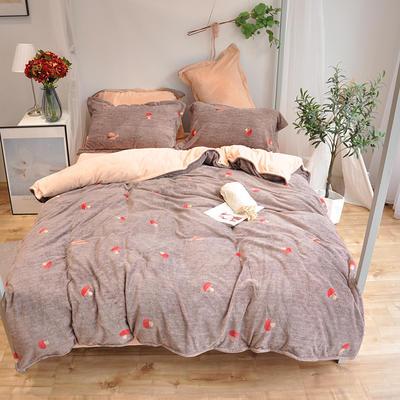 2018新款臻棉绒四件套-实拍 1.8m(6英尺)床 唯一