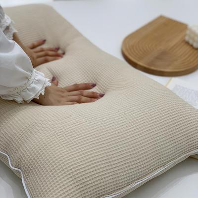 2021新款全棉羽丝绒枕芯47*74cm/对 米色