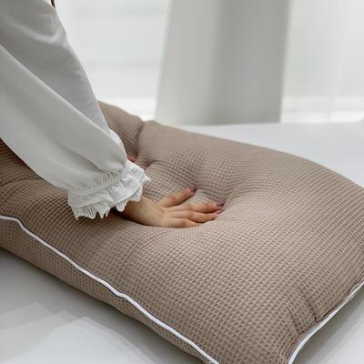 2021新款全棉羽丝绒枕芯47*74cm/对 咖色