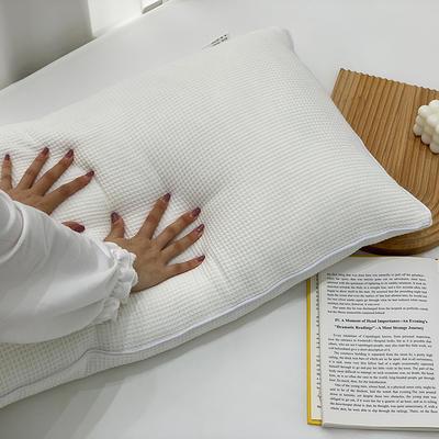 2021新款全棉羽丝绒枕芯47*74cm/对 白色